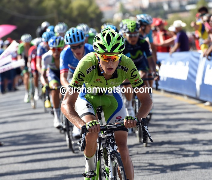 George Bennett on stage six of the 2014 Tour of Spain