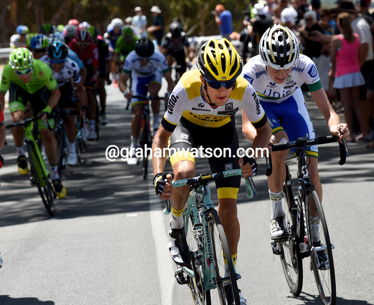 George Bennett on stage 5 of the 2016 Tour Down Under