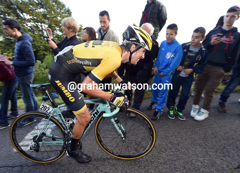 George Bennett during the 2015 Il Lombardia