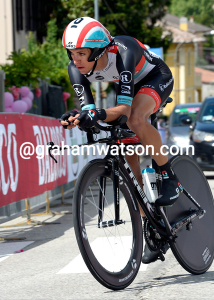 George Bennett on stage eight at the 2013 Giro d'Italia
