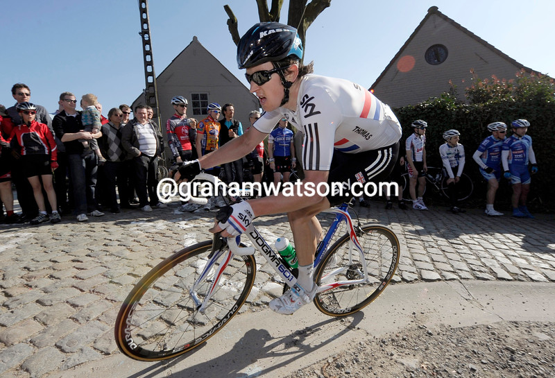 GERAINT THOMAS IN THE 2011 DWARS DOOR VLAANDEREN
