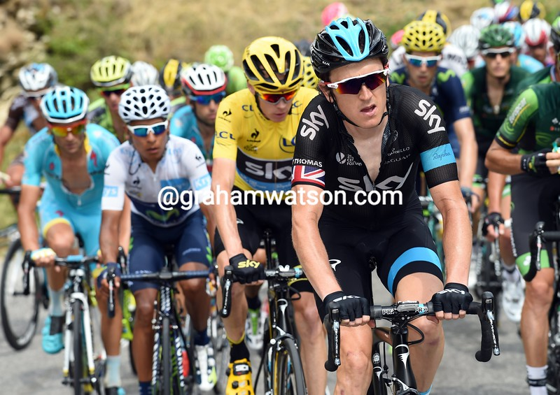 Geraint Thomas on stage seventeen of the 2015 Tour de France