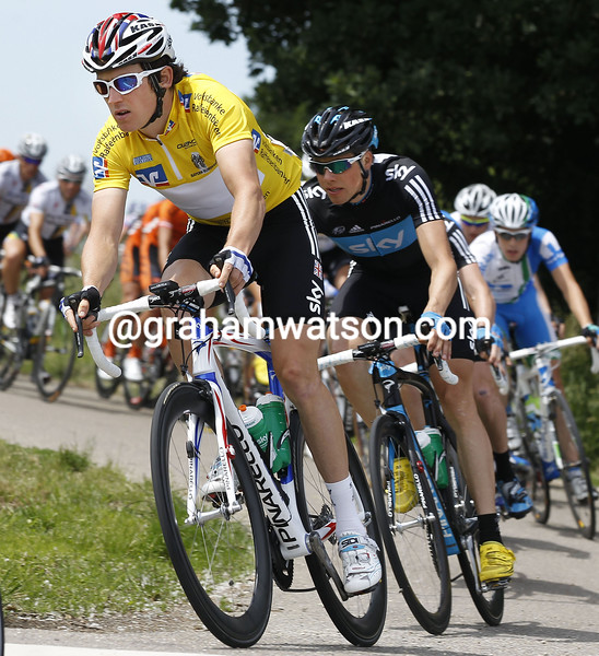Geraint Thomas and Edvald Boasson Hagen on Stage 5 of the 2011 Bayern Rundfahrt