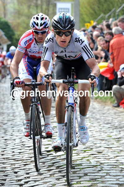 GERAINT THOMAS IN THE 2011 TOUR OF FLANDERS