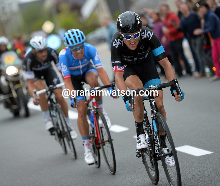 Geraint Thomas in the 2013 E3 Prijs