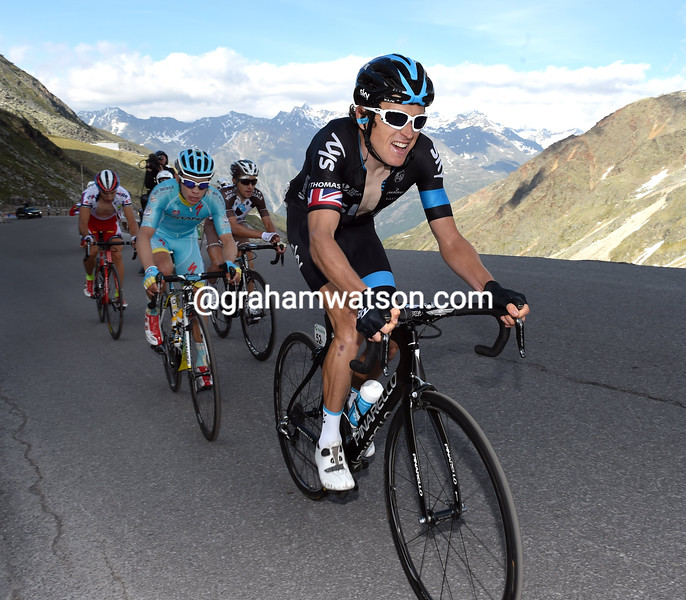 Geraint Thomas on stage five of the 2015 Tour de Suisse