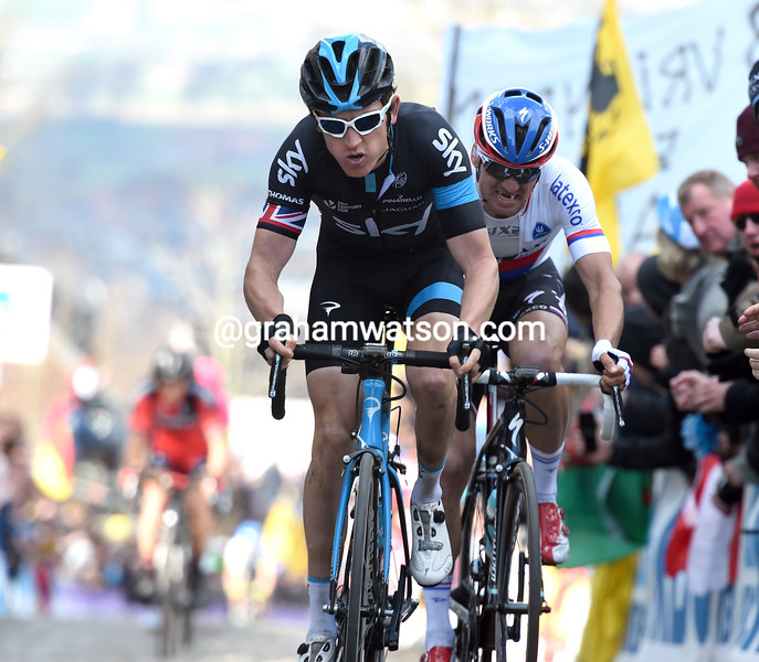 Geraint Thomas in the 2015 Tour of Flanders
