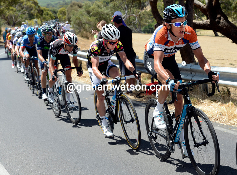 Geraint Thomas on stage five of the 2013 Tour Down Under