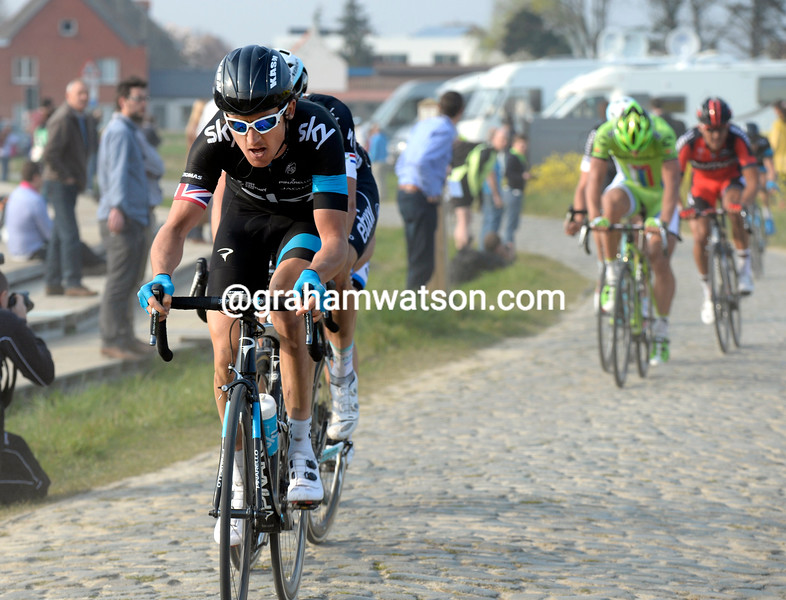 Geraint Thomas in the 2014 E3 Harelbeke