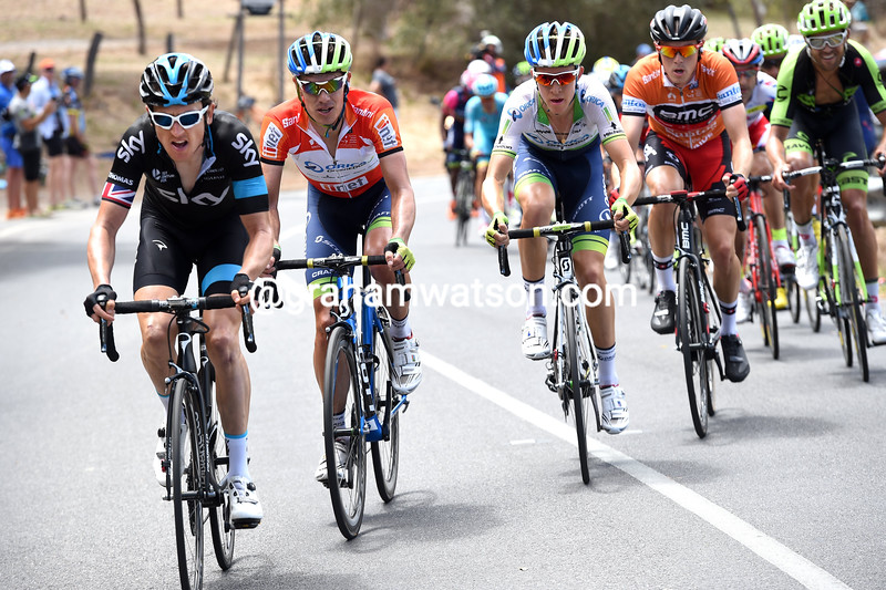 Geraint Thomas on stage five of the 2015 Tour Down Under