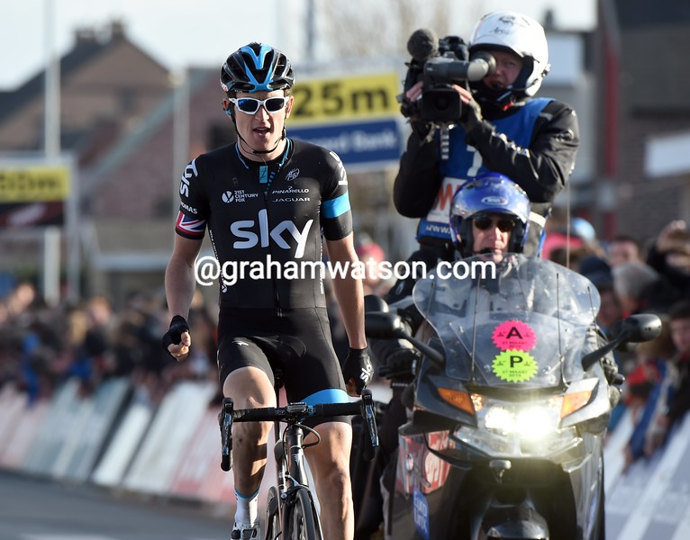 Geraint Thomas wins the 2015 E3 Harelbeke