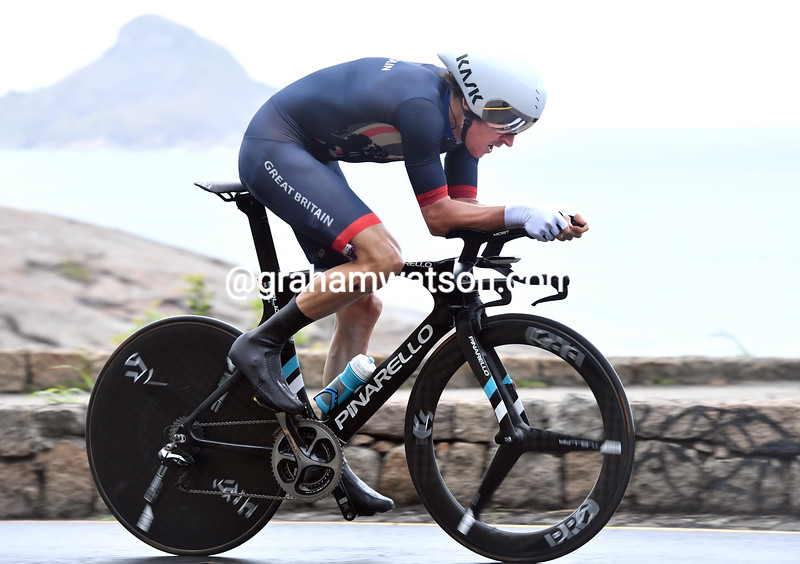 Geraint Thomas in the mens time trial at the 2016 Olympic Games