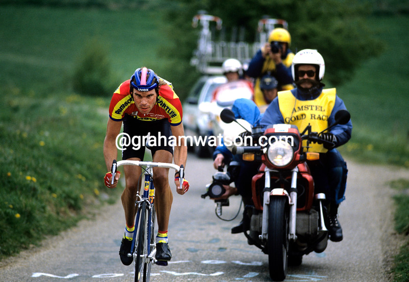 Gert-Jan Theunisse in the 1992 Amstel Gold Race