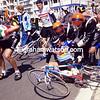 Gilbert Duclos-Lassalle in a crash in the 1989 Ghent-Wevelgem