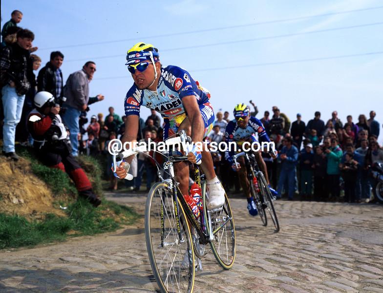 Gianluca Bortolami in the 1996 Paris-Roubaix
