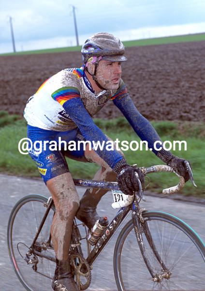 Gianluca Bortolami in the 2001 Paris-Roubaix