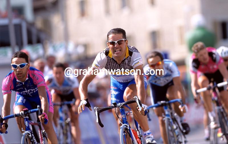 Gianluca Bortolami a stage in the 2001 Tour of Switzerland