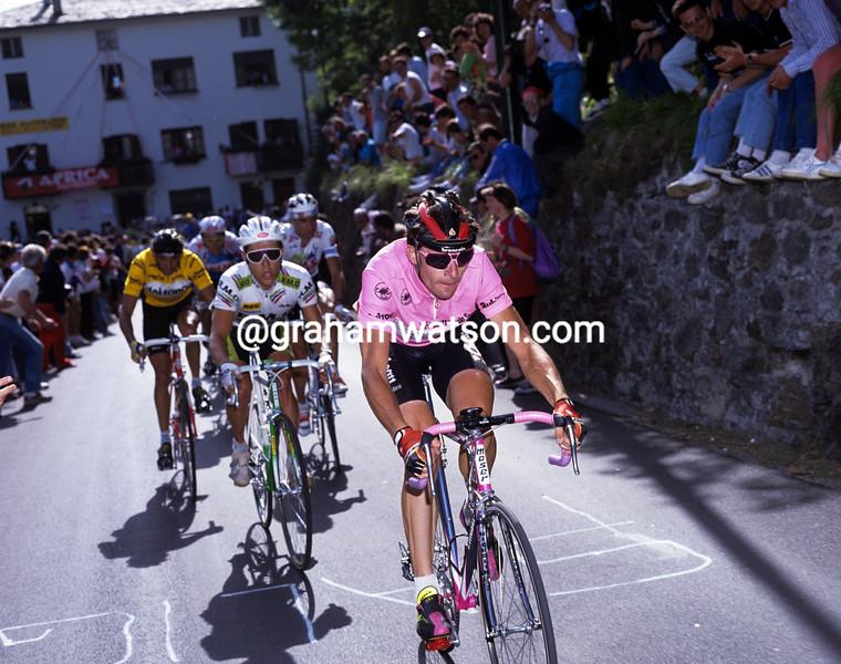 Gianni Bugno leads in the 1990 Giro d'Italia