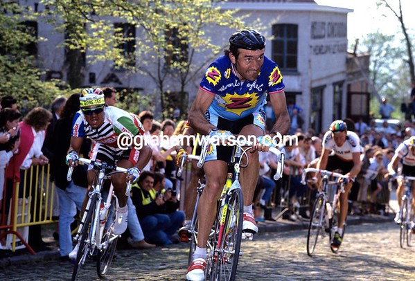 Gilbert Duclos-Lassalle in the 1989 Tour of Flanders