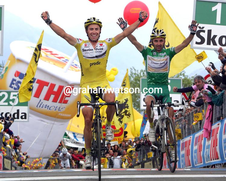 GILBERTO SIMONI WINS  STAGE SEVENTEEN OF THE 2007 GIRO D'ITALIA