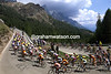 Cyclists in the Dolomites in the 2005 Giro d'Italia