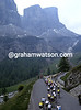 Cyclists climb in the Dolomites in the 1991 Giro d'Italia