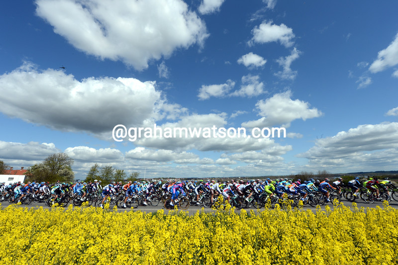 The peloton on stage three of the 2012 Giro d'Italia