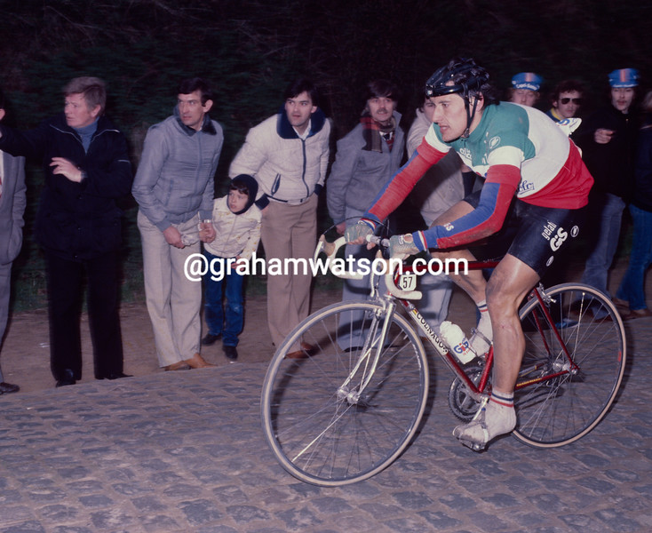 Giuseppe Saronni in the 1984 Tour of Flanders