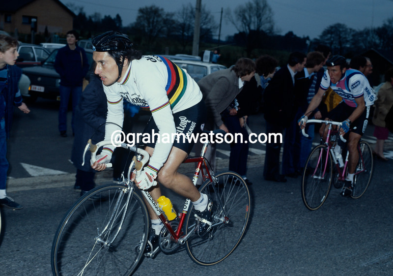 Giuseppe Saronni in the 1983 Tour of Flanders