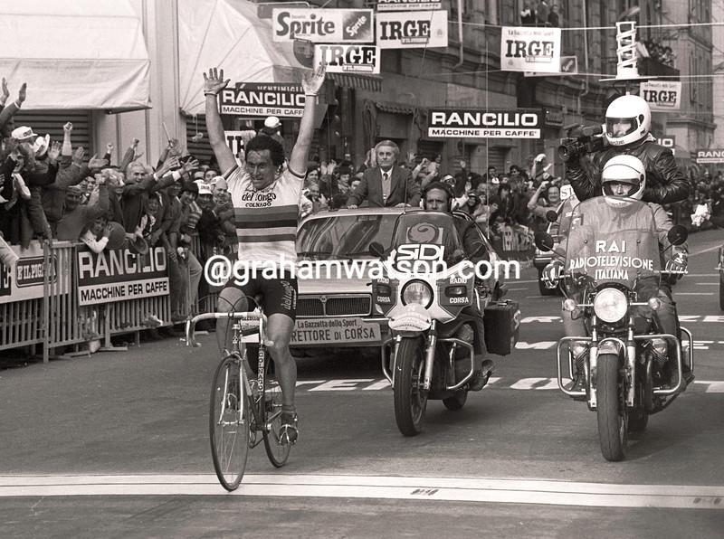 GIUSEPPE SARONNI WINS THE 1983 MILAN SAN REMO