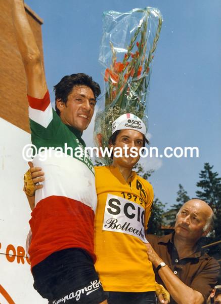 Francesco Moser and Giuseppe Saronni in 1979