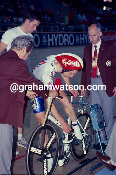 Graeme Obree in the 1993 World Championships