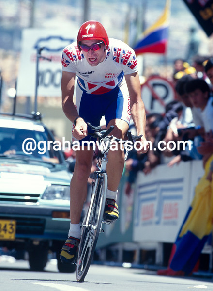 Graeme Obree in the 1995 World TT Championships