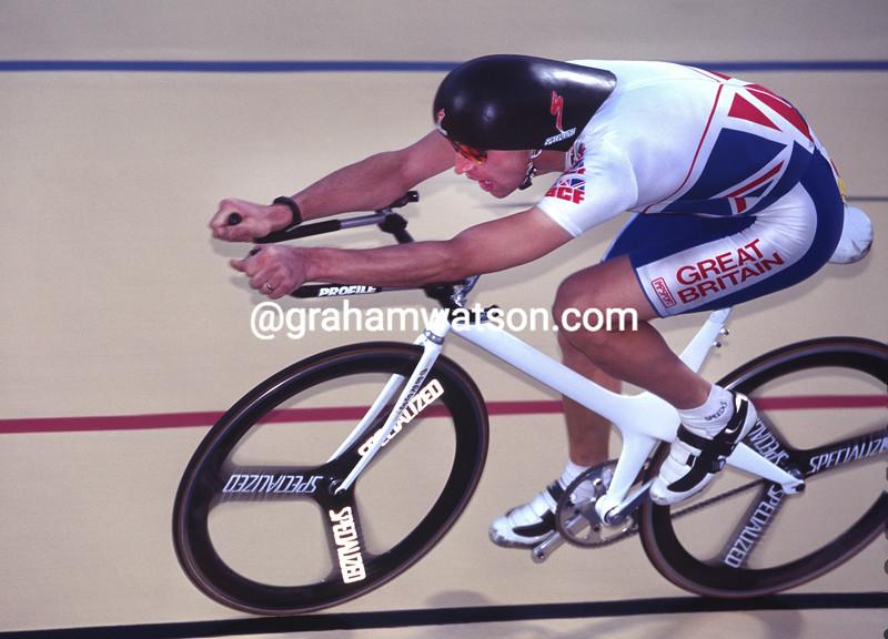 Graeme Obree in the 1995 World Championships
