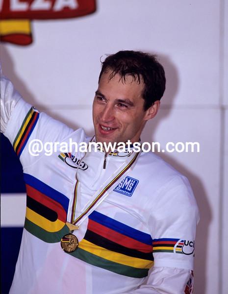 Graeme Obree at the 1995 World Championships
