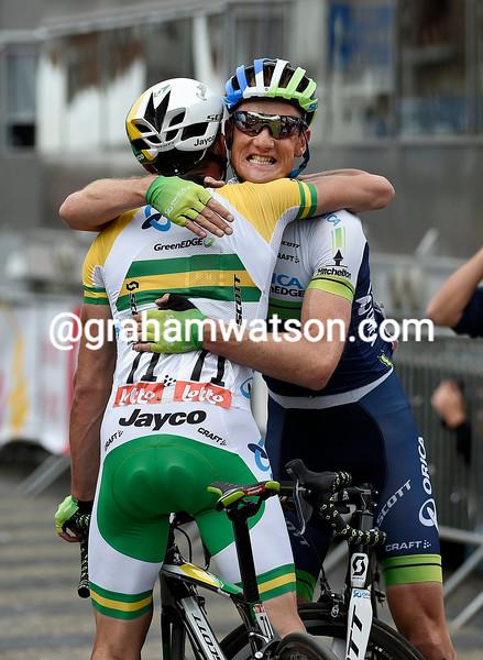 Simon Gerrans wins the 2014 Liege - Bastogne - Liege