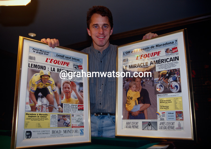 Greg Lemond at his house in 1994