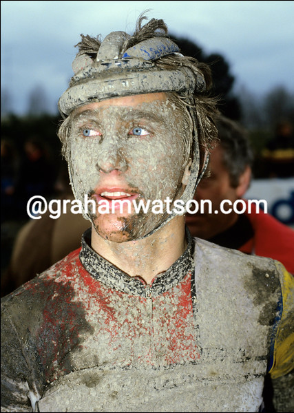 Greg Lemond in the 1985 Paris-Roubaix