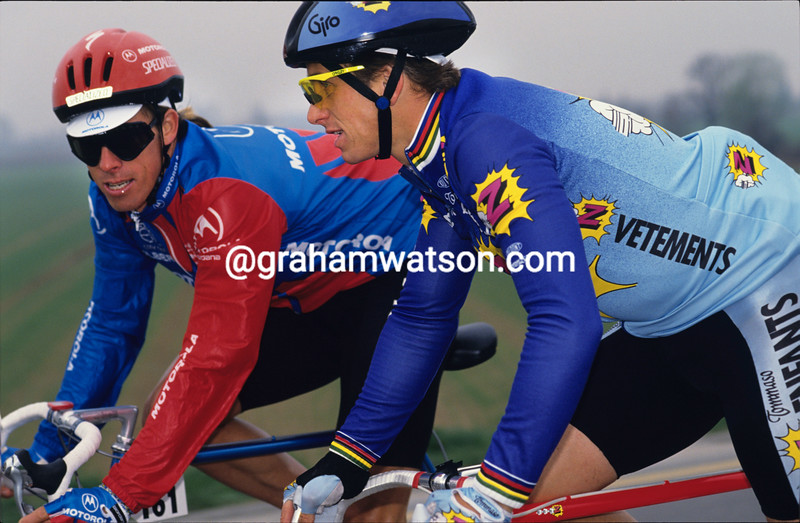 Greg Lemond and Phil Anderson in 1992