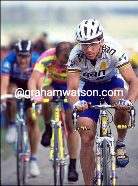 Greg LeMond in the 1993 Paris-Roubaix