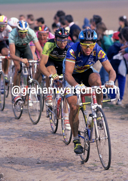 Greg Lemond in the 1992 Paris-Roubaix