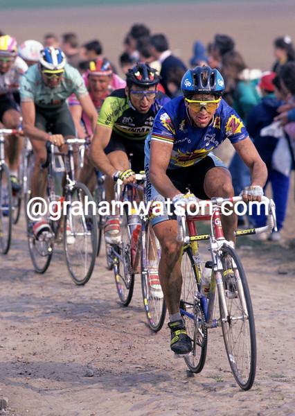 Greg Lemond in the 1992 Paris-Roubaix