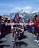 Greg Lemond climbs the Col d'Iseran in the 1992 Tour de France
