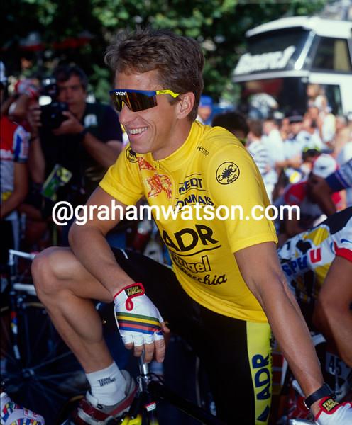 Greg. LeMond in the 1989 Tour de France