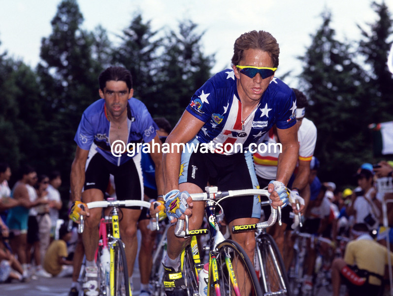 Greg Lemond in the 1990 World Champiopnship