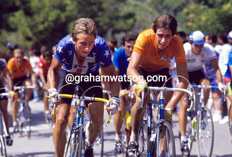 Greg Lemond in the 1984 World Championships