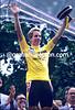 Greg Lemond realises he has just won the 1986 Tour de France