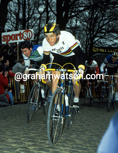 Greg Lemond in the 1984 Ghent-Wevelgem