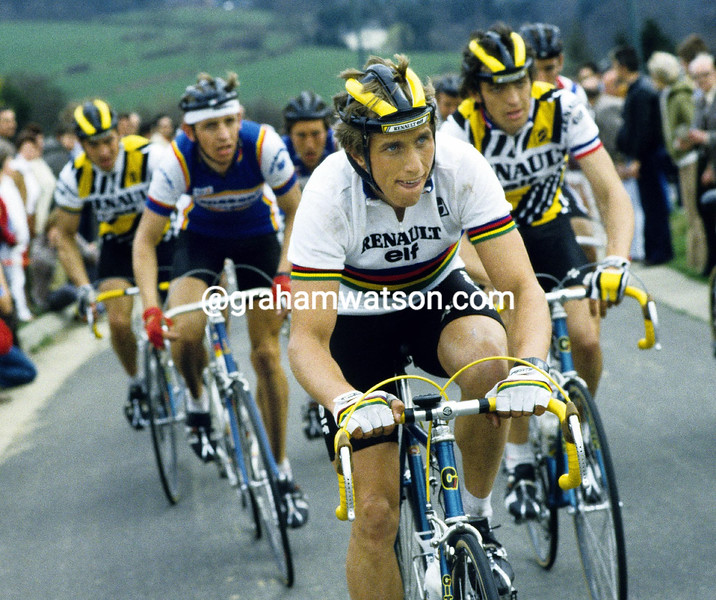 Greg Lemond in the 1984 Liege-Bastogne-Liege