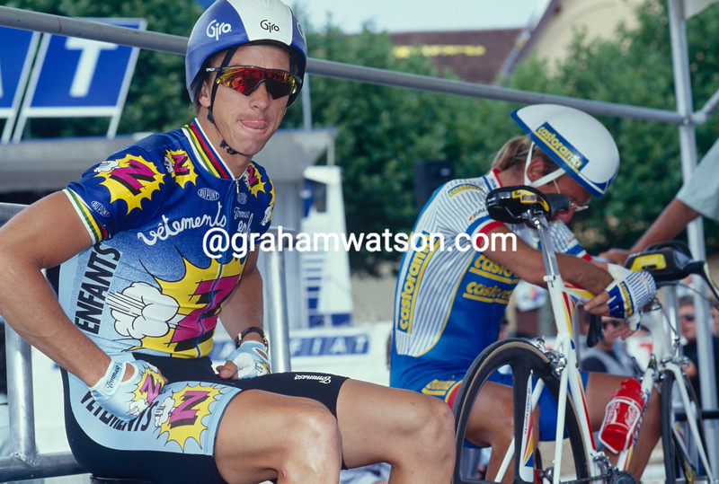 Greg LeMond in the 1991 Criterium International